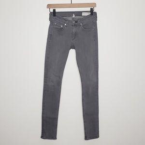 rag & bone Skinny Jeans Dark Iron gray wash 25